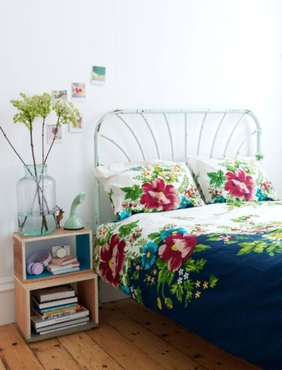 Salem Beds Floral Bedroom