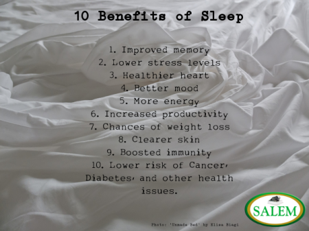 salem beds Benefits of sleep