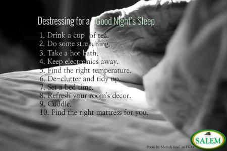 salem beds destressing for sleep