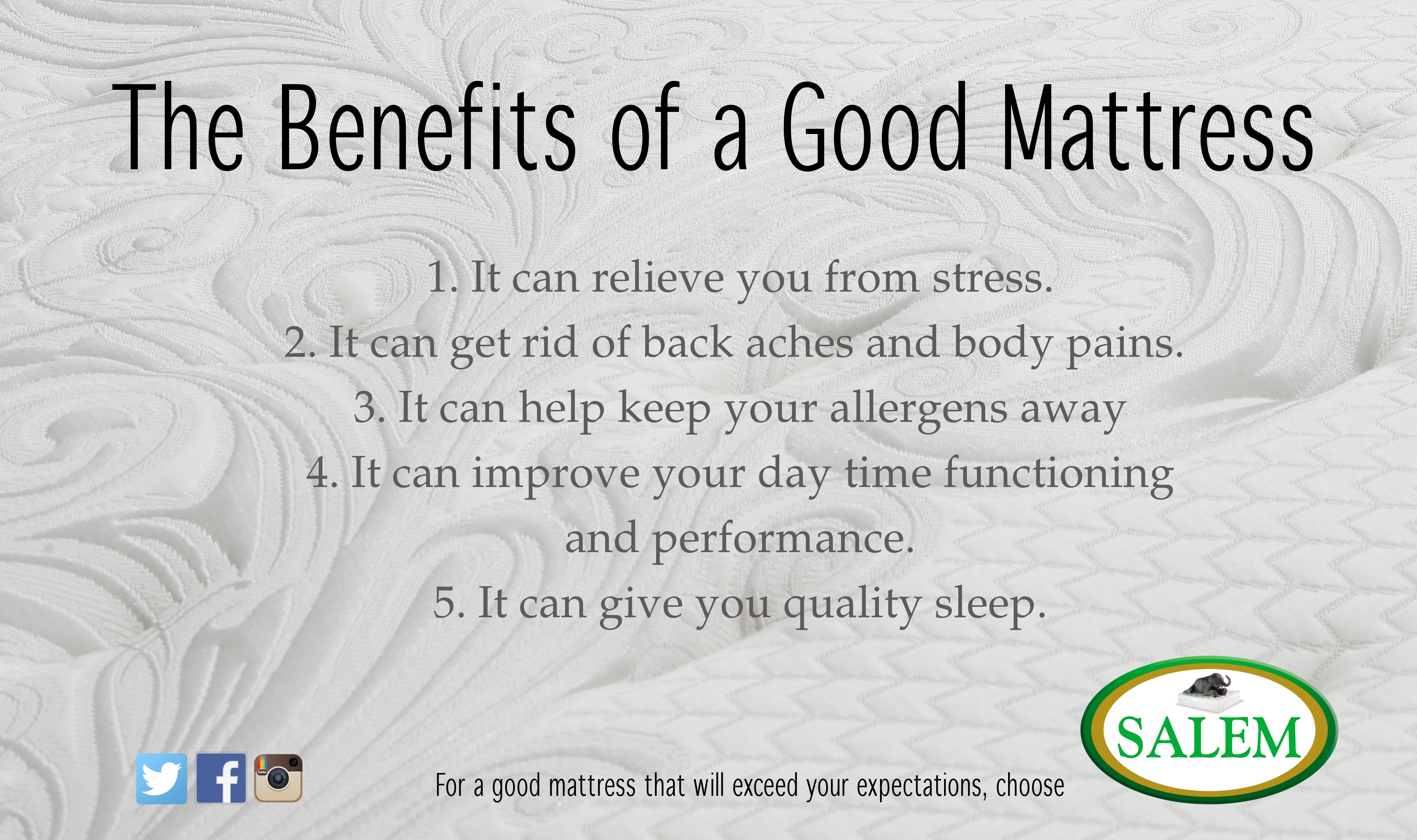 salem beds benefits of good mattress