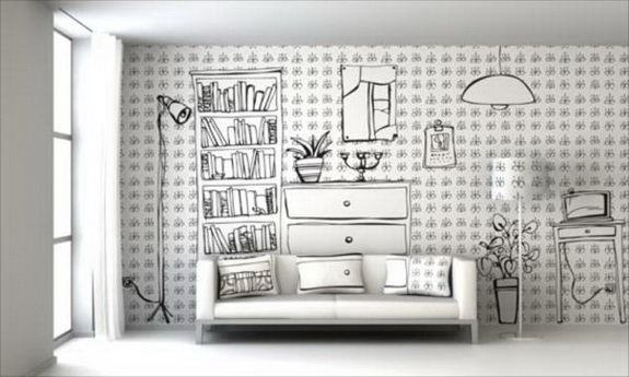 Hand Painting Designs On Walls : ... room renovation, this is another excellent example of salon type wall