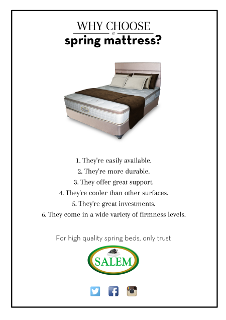 salem beds why choose a spring mattress