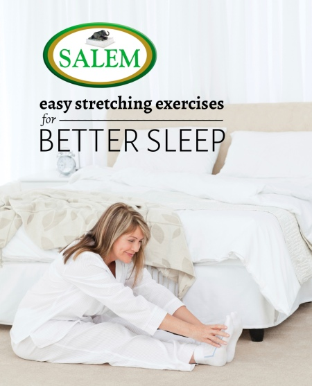 easy stretching exercises for better sleep the official blog. Black Bedroom Furniture Sets. Home Design Ideas
