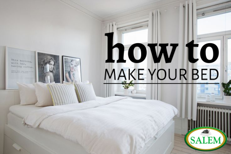 how to make your bed banner