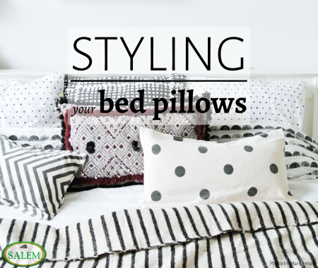 bed pillow styling banner