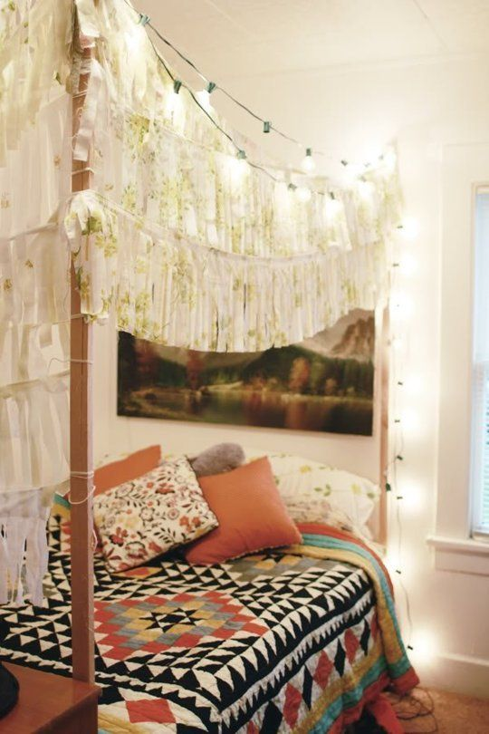 Creative ways to decorate your four poster bed the - How to decorate a bohemian bedroom ...