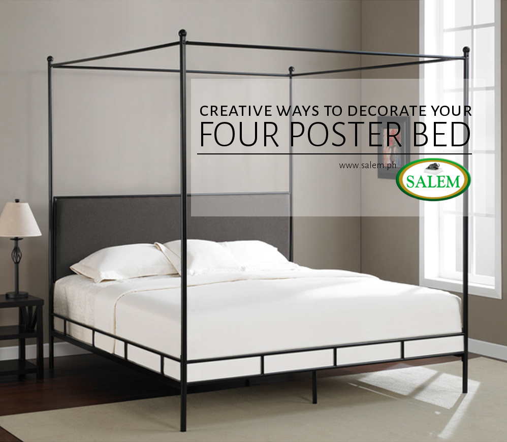 Four poster beds are some of the fanciest frame options for your bedroom. Theyu0027re extravagant and elegant the perfect centerpieces to a beautiful space. & Creative Ways to Decorate Your Four Poster Bed | the official blog