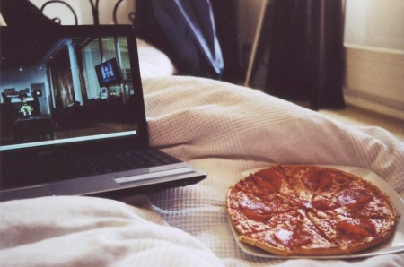 movie + pizza