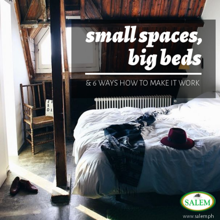 small space big bed banner
