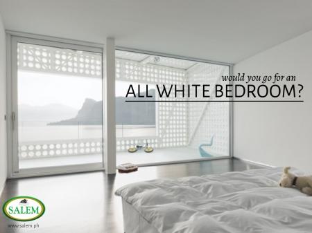 white bedroom banner