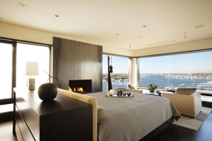 glass windows bedroom