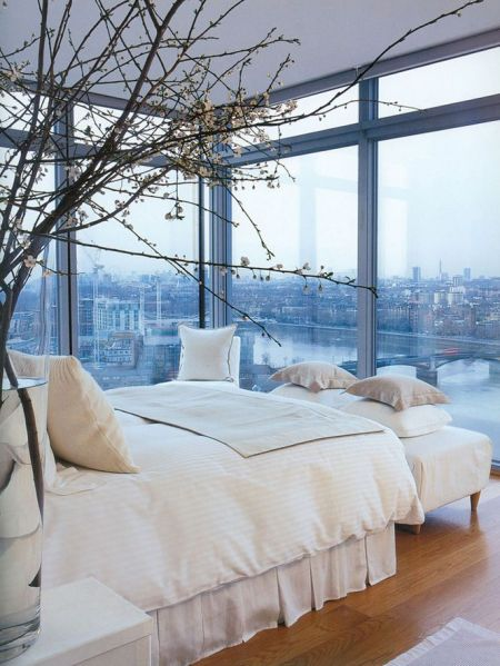 glass window bedroom