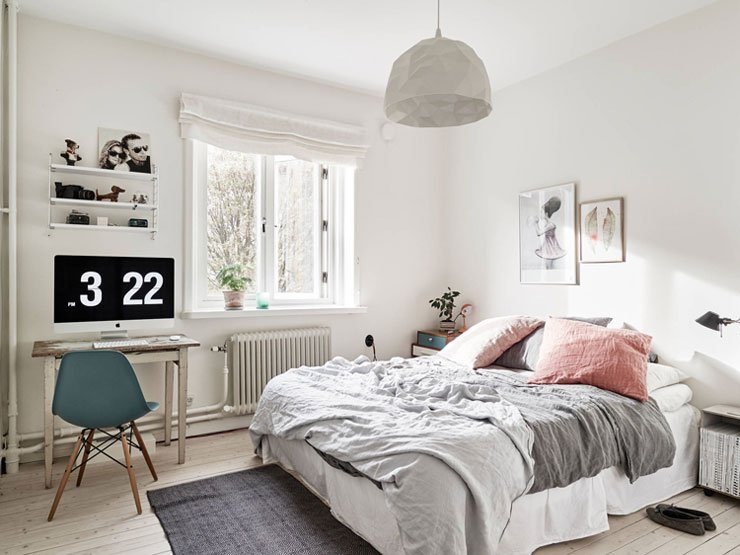 Pink gray bedrooms you ll fall in love with for Dormitorio nordico
