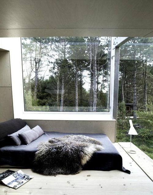 glass window bedroom