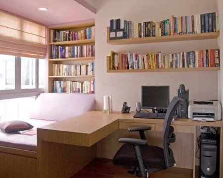 home office in the bedroom