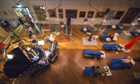 Sleep at the Wellcome Centre by Alecsandra Raluca Dragoi for The Guardian