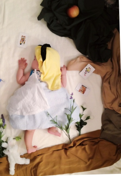 sleeping cute baby dress up