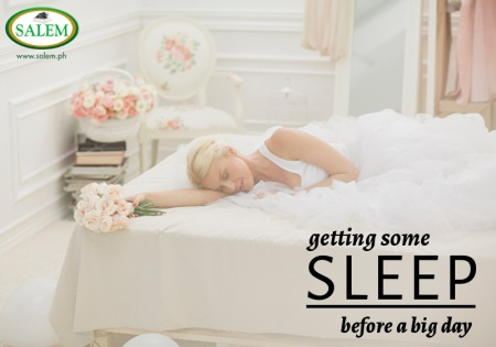 sleep before a big day banner